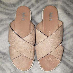 MIA pink slip on sandals